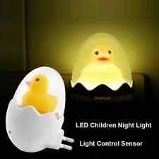 Cute LED Children  Favor Night Light Novelty Dimmable Yellow Duck Bedside Lamp^