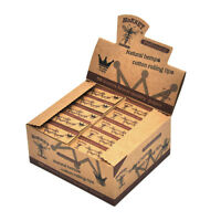 HORNET 50X Natural Unrefined Brown Rolling Papers Filter Tips 50 leaves 60*21MM
