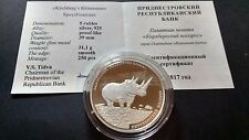 Transnistria 2017 5 rubles Kirchbergs Rhinoceros Silver coin only 250 ex.