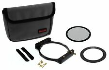 CPL Set w 77mm Adapter & Holder Haida 100 Series 100mm Insert Filter /Cokin Z 77