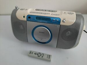 SONY CD - RADIO - CASSETTE TAPE PLAYER STEREO. CFD-E100L + Remote + Power Lead