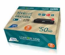 DECODER TIVUSAT ICAN S490 RICEVITORE DIGITALE TVSAT DVBS2 I-CAN SCR DCSS ADB ZA