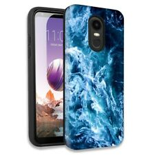 Blue Ocean Waves Double Layer Hybrid Case For LG Fortune 2/Zone 4/Aristo 3