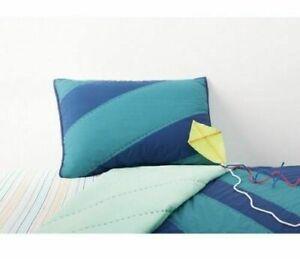 Pillowfort Geo Line Water Colors Standard Size Blue Teal Pillow Sham