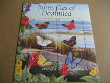 DOMINICA   THE CARIBBEAN-TROPICAL  BUTTERFLIES  OF DOMINICA  SHEETLET