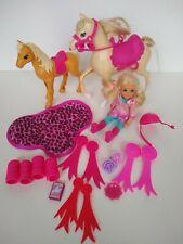 Barbie Doll, Chelsea Horse Pony Accessories Saddles ribbons riding lot bundle