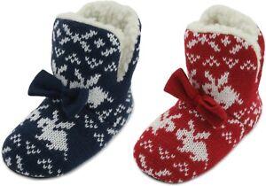 Christmas Girls Rabbit Knitted Bootie Slipper
