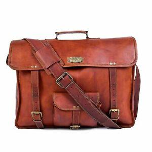 Leather Messenger Shoulder Laptop Briefcase Bag Men's Vintage Best Quality Hide