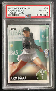 Naomi Osaka 2019 Topps Tennis Hall of Fame #50 Rookie PSA 8 NM-MT! INVEST HOT