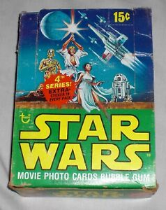 1977 Topps STAR WARS Series #4  WAX PACKS Trading Cards EMPTY Display BOX