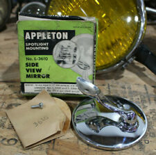 NOS SpotLight Mirror APPLETON Vtg Custom old Lorraine spot light hotrod lowrider