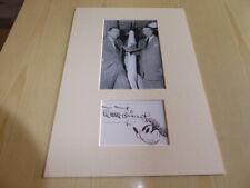 Walt Disney and Wernher von Braun Space NASA mounted photograph & autograph card