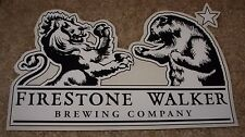 "FIRESTONE WALKER 8"" Bear Lion Logo STICKER decal craft beer brewery Wookey Jack"