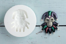 Silicone Mould  Gothic Jester Skull, Halloween Food Grade Sugarcraft/fimo M049