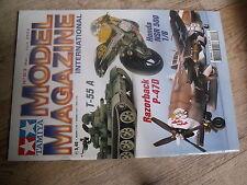 $$t Revue Tamiya Model Magazine N°63 T-55 A  Honda NSR 500  Razorback P-47D