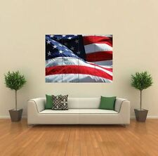 BANDIERA AMERICANA stelle strisce nuovo GIANT POSTER WALL ART PRINT PICTURE g309