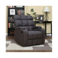 Recliner Sofa Chair Wall Hugger Lazy Boy Style Microfiber Seat Storage Furniture