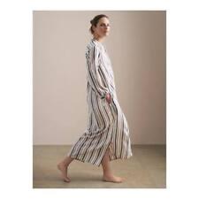 TOAST Ecru / Denim Blue CREPE STRIPE GANDORA Dress MEDIUM UK 12 14 BNWT £125
