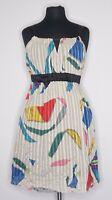 Charlotte Ronson Women's Multicolor Abstract Pattern Silk Dress sz S