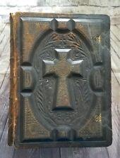 1884 Illustrated Douay Rheims Catholic Bible Large Huge Latin Vulgate Haydock