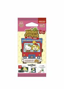 Animal Crossing : New Leaf - Welcome Pack Sanrio - Packet of 6 Cards NEW