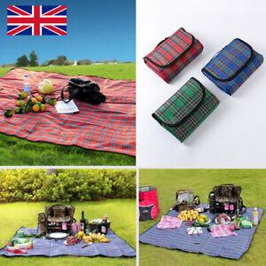 250cm Extra Large Waterproof Picnic Blanket Mat Fleece Camping Beach Rug Outdoor