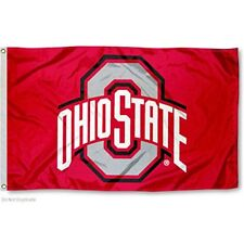 OHIO STATE BUCKEYES FLAG 3'X5' (RED) OSU OHIO STATE UNIVERSITY: FREE SHIPPING