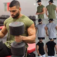 Gym Men's Sportswear Muscle T-shirt Short Sleeve Fitness Bodybuilding Tops Tee