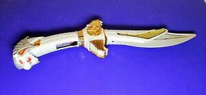 1994 Mighty Morphin Power Rangers White Ranger Legacy Saba Sword Toy-Sounds Work