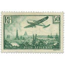 PA N°14a AVION SURVOLANT PARIS, SUPERBE TIMBRE NEUF* SIGNÉ-1936