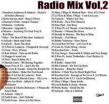 Radio Mix Volume 2, 4, 5, 6  [HipHop & R&B CD]  Songs