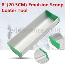 20CM Aluminum 8'' Emulsion Scoop Coater Silk Screen Printing Press Tool NEW