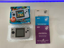 Boxed SNK Neo Geo Pocket Color Console - Platinum Silver In Very Nice Condition!