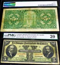 1928 $5 Provincial Bank Of Canada Chartered Banknote (only 28 Graded By Pmg)