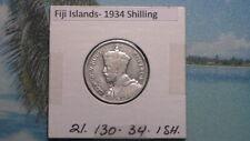 FIJI ISLANDS - 1934 SHILLING - COLONIAL ERA - PREDECIMAL COIN. Silver 50%.