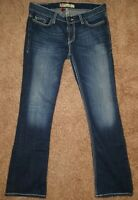 BKE Buckle Lexi Bootcut Low Rise Dark Wash Stretch Jeans Womens Size 28 x 31 1/2