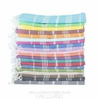 HAVLULAND Soft Turkish Cotton Peshtemal for Beach Bath Pool Size 70x37 Inches