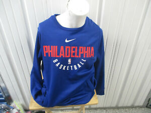 NIKE NBA PHILADELPHIA 76ERS SIXERS LARGE BLUE SWEATSHIRT NEW W/ TAGS