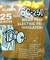 Fi-Shock SC-250 Insulator with Double-Headed Nail Yellow Plastic