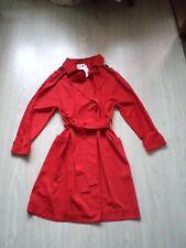 Manteau  trench Neuf Mango rouge taille S oversize 38 40 42
