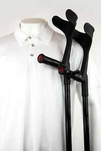 COMFORTABLE CRUTCH. COMFORT GRIP FOLDING CRUTCHES. GREAT FOR MOBILITY SCOOTERS.