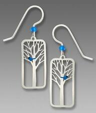 Sienna Sky Earrings Sterling Silver Hook Blue Bird in a Tree Handmade in USA