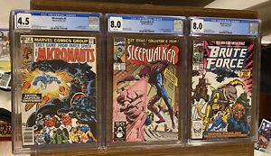 LOT OF 3 Marvel CGC Books - Sleepwalker, Micronauts & Brute Force 🔥 🔑