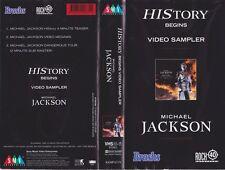 MICHAEL JACKSON VIDEO SAMPLER  HISTORY BEGINS VHS PAL VIDEO~ A RARE FIND