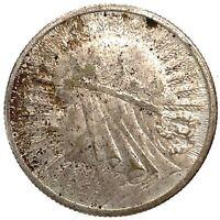 Poland 2 Zlote 1933 Queen Judwiga , Silver Coin Y#20  C #2