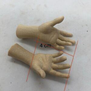 Un Paio Di Mani Legno Figura donna per statue 4 cm (palmo dita)
