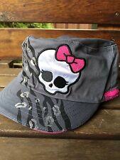 Girls Kids Children Teenage Skull Grey Monster High Sun Cap Hat Gift her 4-14yrs