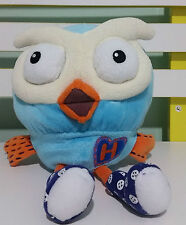 GIGGLE AND HOOT PLUSH TOY BLUE OWL FROM ABC KIDS TV SHOW! 19CM!