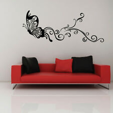 BUTTERFLY flower stickers wall Decal Removable Art Vinyl Decor Home Kids living