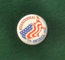 BICENTENNIAL 1776 AMERICA 1976 BUTTON-PIN 1 3/4